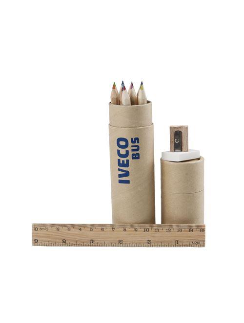 Image de IVECO BUS Lot de 12 crayons de couleur, Boîte ronde