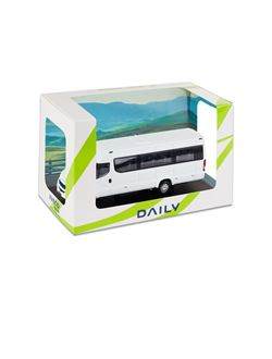 Image of WHITE DAILY MINIBUS NP Hi-MATIC - 1:43